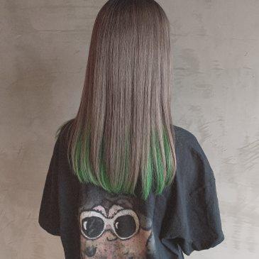 グレー×グリーン